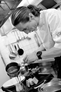 le Chef du Restaurant Rosebud à l'hotel du Jeu de Paume au Lavancher à Chamonix