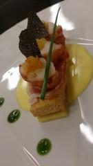 Un des plats concoctés par le chef Eric de Ganck, du restaurant le Rosebud hotel du Jeu de Paume Chamonix