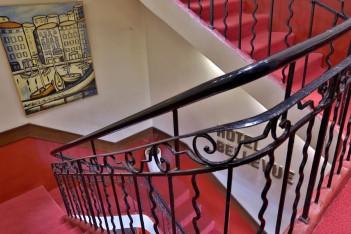 escalier de l'hotel Bellevue
