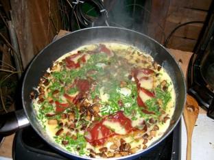 omelette aux champignons : mythique après une promenade en forêt