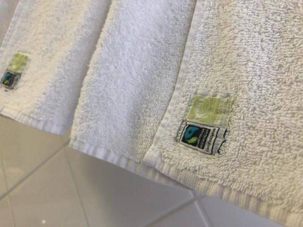 les serviettes de l'hotel Belle vue à marseille en coton bio